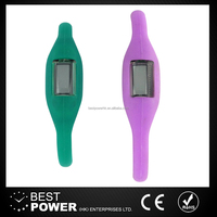 Flexible outdoor negative sports silicone ion watch