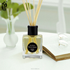 hot sale good quality 190ml decorative glass bottle rattan reed diffuser for office