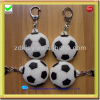 football shape silicone rubber led cheap keychains in bulk