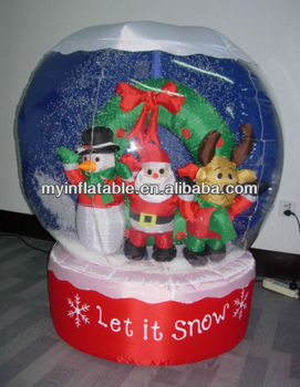 Inflatable Christmas Snow globe christmas group