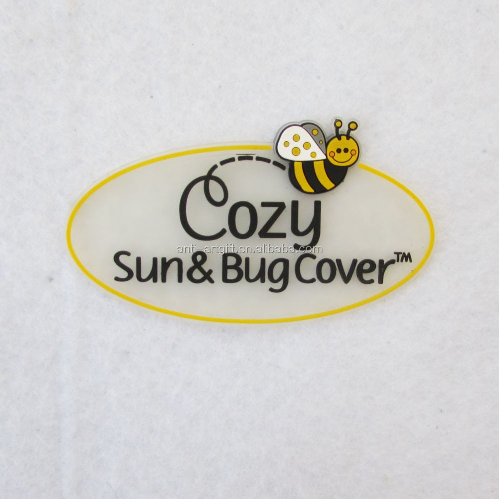 Custom design PVC offset printing carton lapel pins lovely animal bee with butterfly in Kun Shan