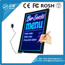 China led panel led menu board for advertising in cafes