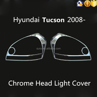 Chrome Head Light Cover For Hyundai Tucson 2008 Car Accessories Best Selling Tucson Car Chrome Accessory