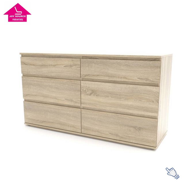 Modern design MDF wood oak color drawer cabinet home furniture