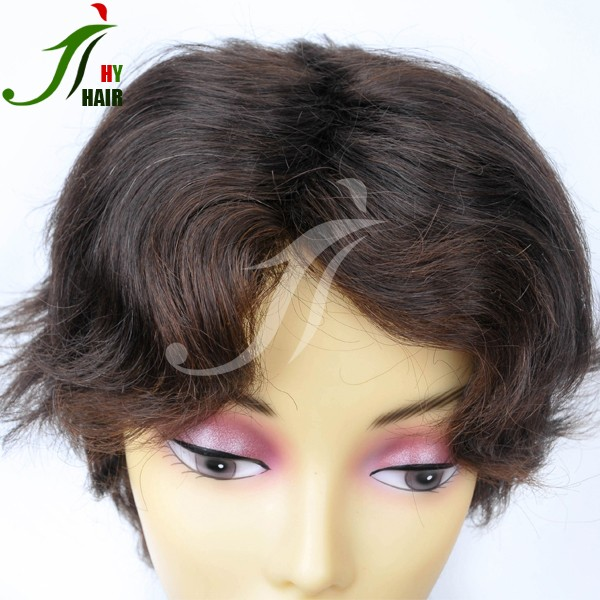 2016 Summer Hot Sale Short Black Wig Caps Top Quality Synthetic Wig For Man