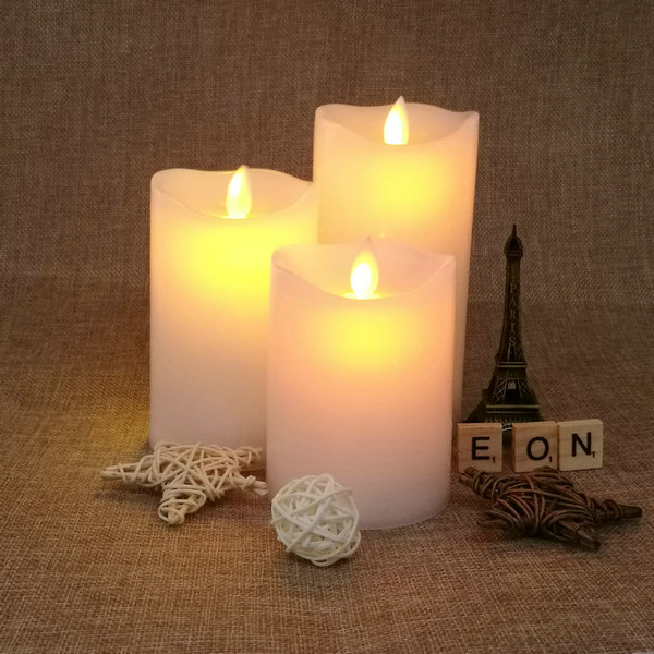 C703 Cheap dangcing flame / moving flame led Wax Candle