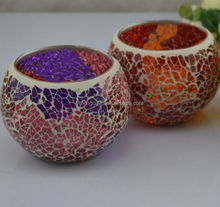 glass mosaic hurricane candle holders home accessories
