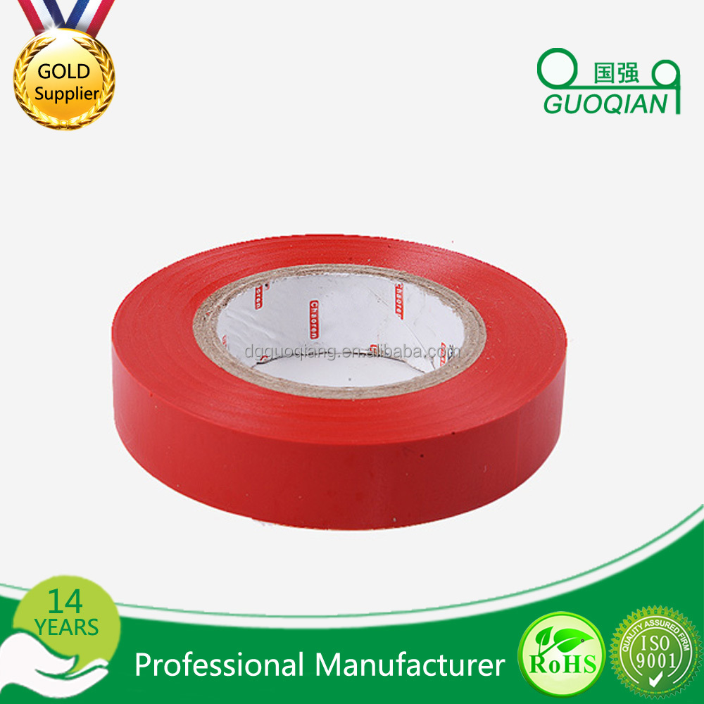 Red PVC Tape Hot Melt Adhesive Tape Insulate Wires up to 600V