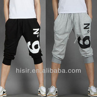 Summer 2014 new Korean men's sport seven minute trousers leisure Haren pants sweat pants X65