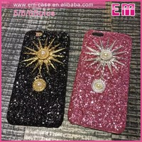 Bling Quicksand Sun Cover Phone Case For iPhone5/6S/6S Plus Plastic Hard Shell Case
