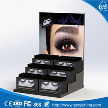 beauty cosmetic acrylic false eyelash display stand eyelash extension display stand