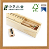 2016 new design handmade custom Small Fashion wooden sliding pencil box