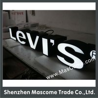 Famous Brand Logo Name Acrylic Frontlit Outdoor Display Letters Sign Lightbox