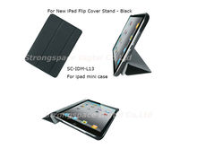 New PU Leather Smart Magnet Full Covers Cases For Apple iPad Mini Black Color