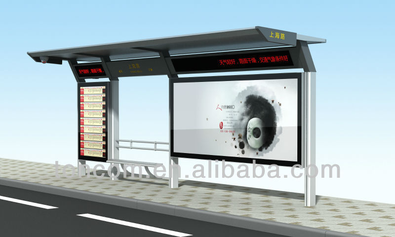 THC-76 metal bus stop station