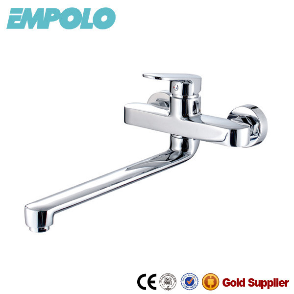 Brass Wall Mount Decorative Kitchen Faucet Long Spout Kitchen Mixer 86 6101