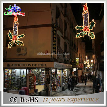 1.5m 2d candle led motif for outdoor street decoration