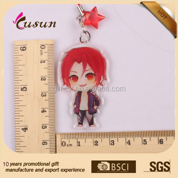 Custom cheap Acrylic phone charm of beauties