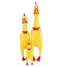 Fashion Design Screaming Chicken Pet Squeeze Rubber Pet Toy for Dogs