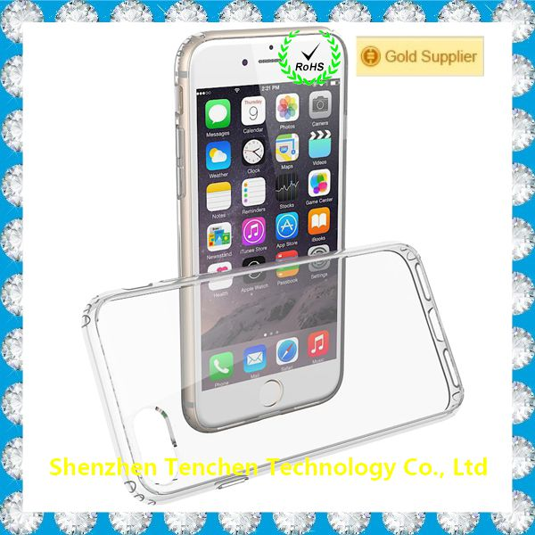 China phone case manufacturer transparent TPU PC mobile phone case for iphone6