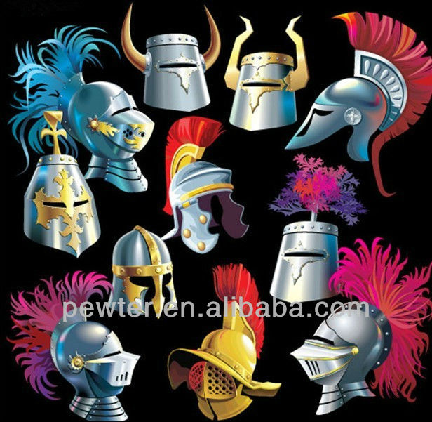 Antique Medieval Knight Armor And Helmets