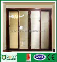 Aluminum materials framed sliding door color wood door design