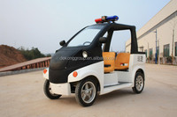 4 wheels CE certificate mini electric patrol car with three seats
