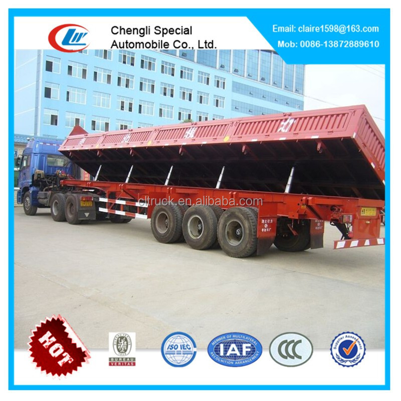 3 axles Dump Truck Semi Trailer, triple axle tipper trailer