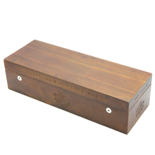 High-end France wine box with laser engraving logo wholesale