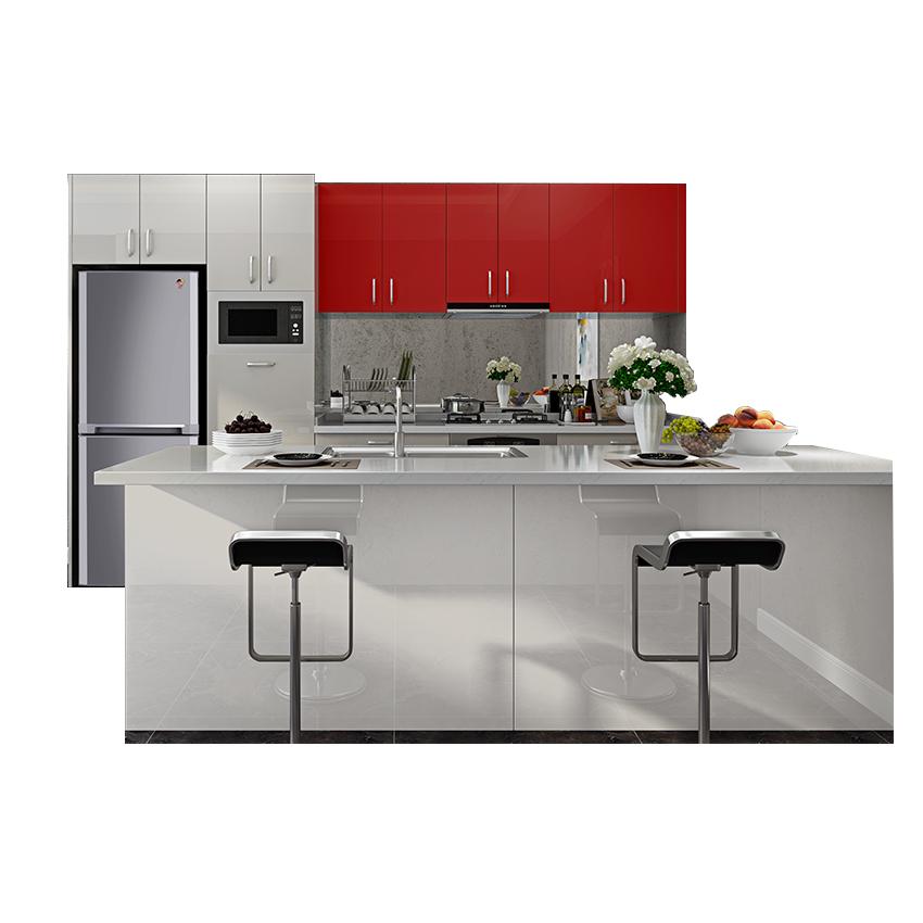Venta al por mayor muebles cocina rojos-Compre online los mejores ...