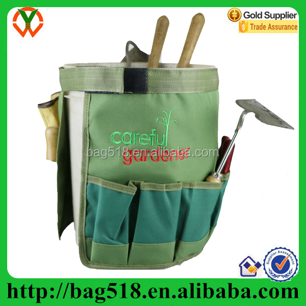 folding bucket canvas garden tool bag Organizer for All Your Gardening Needs