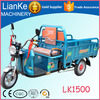 energy save electric rickshaw made in china/CE certification cargo electric tricycle/800W three wheeled motorcycle used