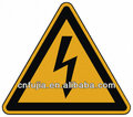 lightning warning metal sign road sign