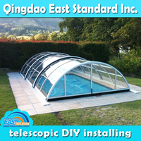 East Standard polycarbonate automatic cover for swimming pool