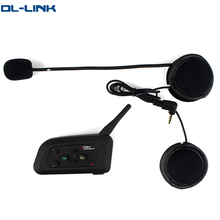 V4 1x 1200m 4 way motorcycle helmet to helmet bluetooth intercom for 4 riders