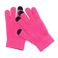 Acrylic Knitted Touch Screen Gloves For