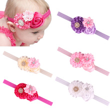 S13644A Flower Headband For Kids Elastic Baby Girl Hair Band
