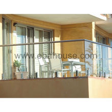 Double glazing glass balustrade for swimming pool or balcony