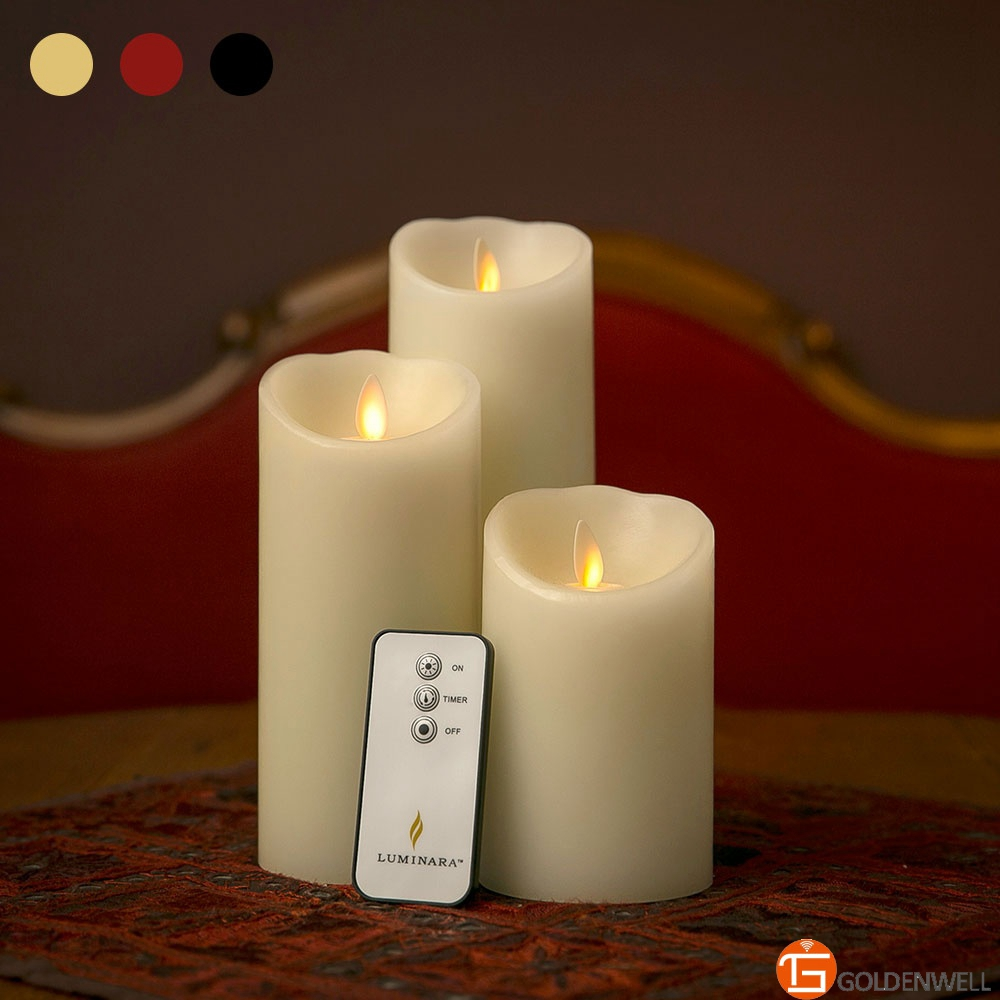 Luminara 3 Pack LED Artificial Candles