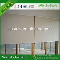Manual Polyester Material Blackout Window Roll Up Blinds
