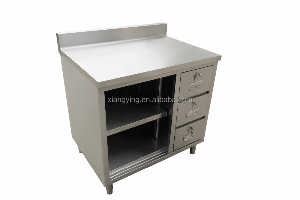 free standing stainless steel kitchen cabinet
