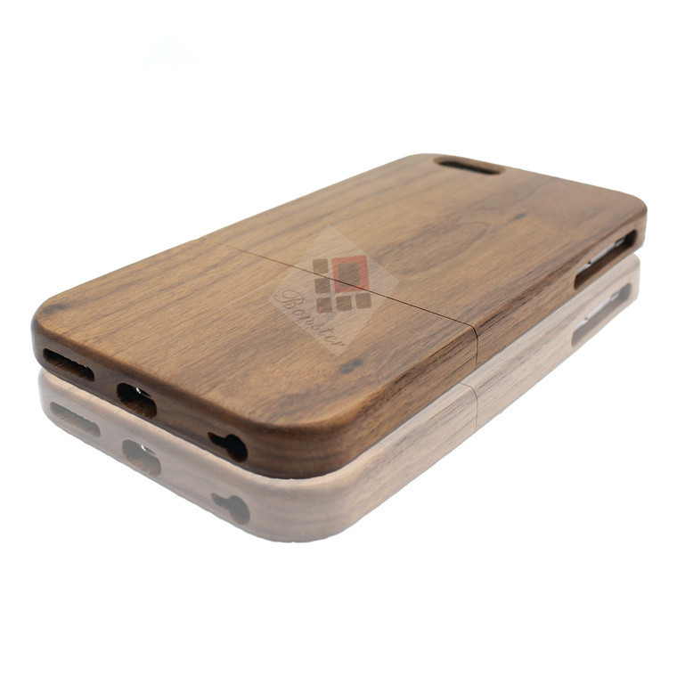 Smartphone Accessories Handcrafted Wood Walnut Phone Case For IPhone
