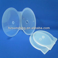 12cm clear round shell cd dvd case