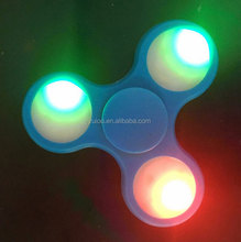 Shenzhen wholesale led hand spinner plastic LED flashing fidget spinner toy cheap finger spinner toy