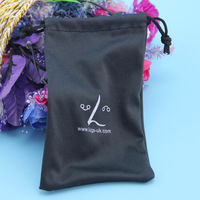 Designer classical custom logo printed sunglasses pouch with drawstring