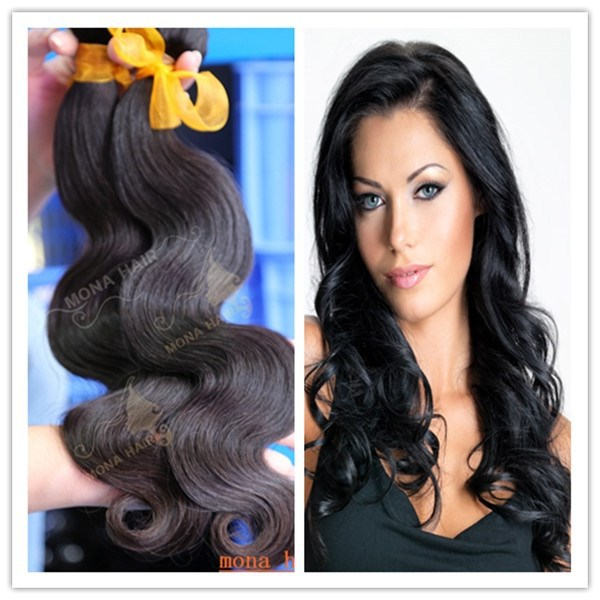 Top quality remy hair weaving body wave 100% human peruvian virgin hair