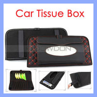 Sun Visor 2 in 1 CD DVD Pocket Car Accessories Paper Tissue Box Holder