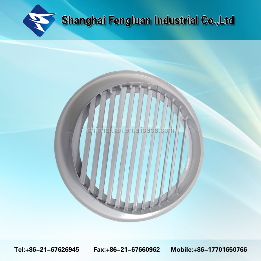 Outdoor round filter louvers