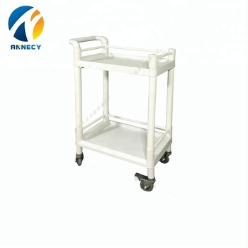 AC-UT008 medical instruments 2 layer abs medical utility carts trolleys
