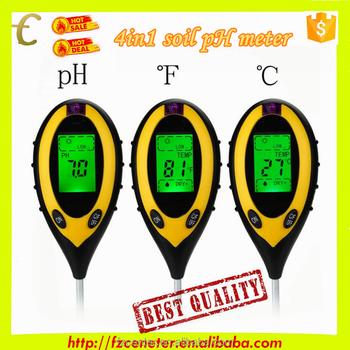 Soil Moisture, PH, Temperature And Light Digital Meter With 200mm Long Probe